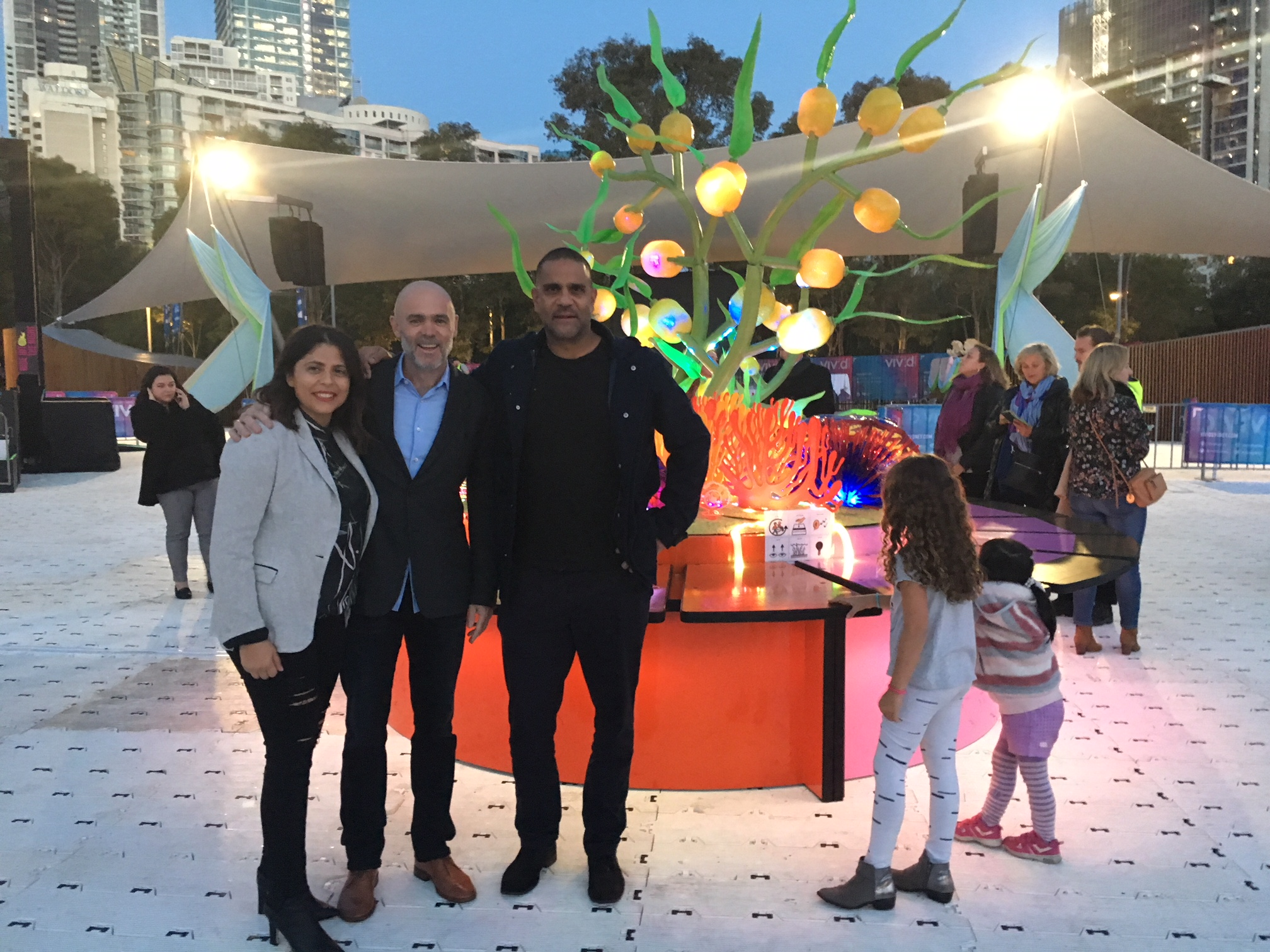 ARA Indigenous Services - Tumbalong Lights - VIVID Sydney 2018